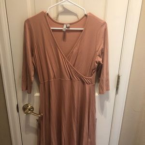 ASOS maternity dress, pink blush, sz 8 EUC!